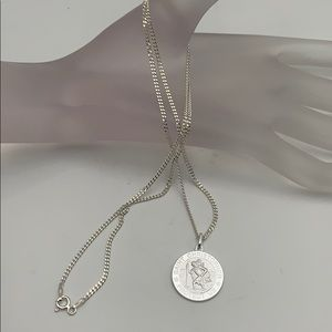 925 silver, medal with image of Saint Christopher
